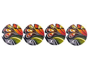 "Glasunderlägg (Coasters) ""Dalaträdgård"""