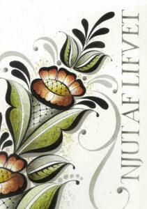 Art Print Njut av Lifvet 30×40